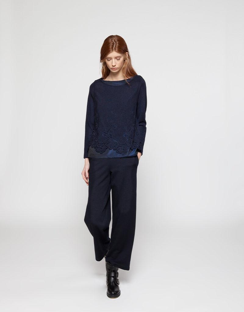 WHYCI MILANO | Sweater (Dunkelblau) und Jogginghose