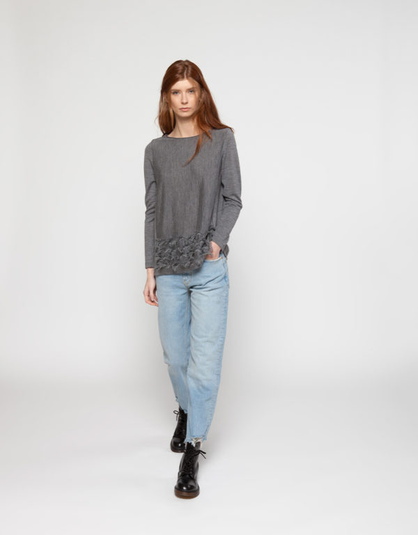 WHYCI MILANO | Sweater (Grau) und Jeans
